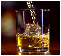 Image of a glass of whiskey before breakfast